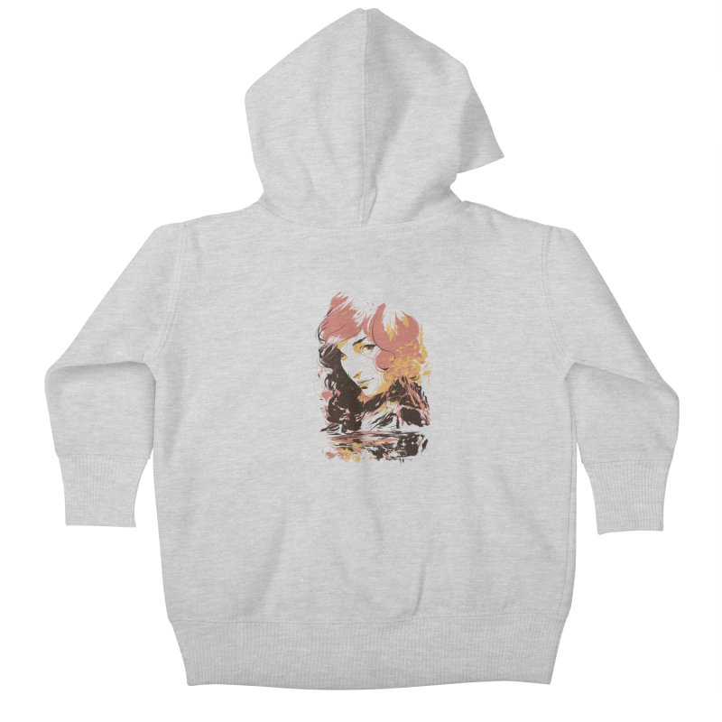 Volcanic Heat Kids Baby Zip-Up Hoody by hafaell's Artist Shop
