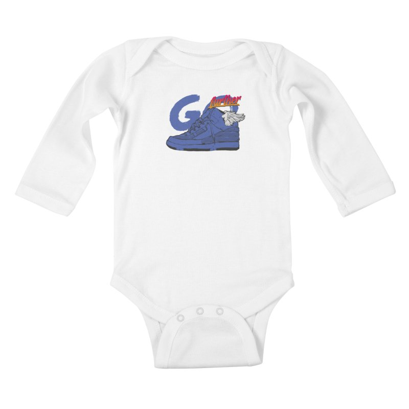 Sneaker Kids Baby Longsleeve Bodysuit by hafaell's Artist Shop