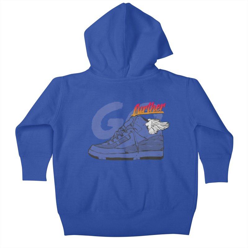 Sneaker Kids Baby Zip-Up Hoody by hafaell's Artist Shop