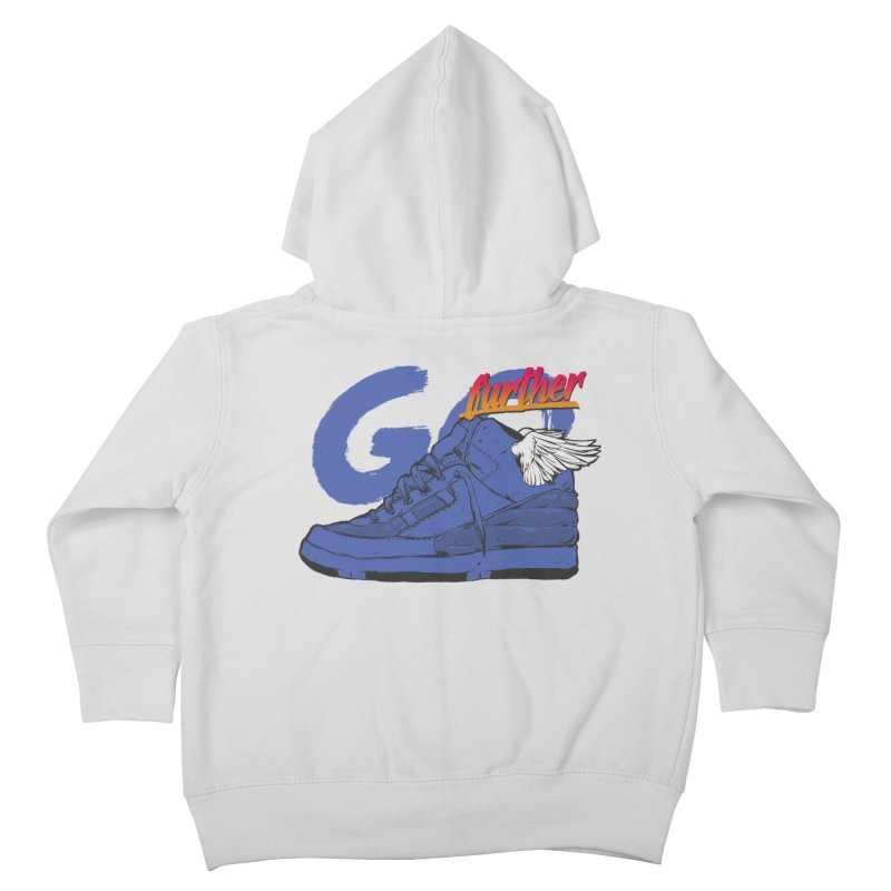 Sneaker Kids Toddler Zip-Up Hoody by hafaell's Artist Shop