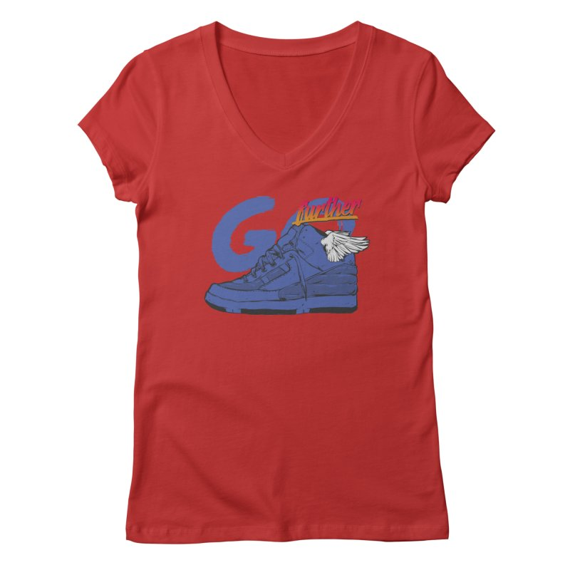 Sneaker Women's Regular V-Neck by hafaell's Artist Shop