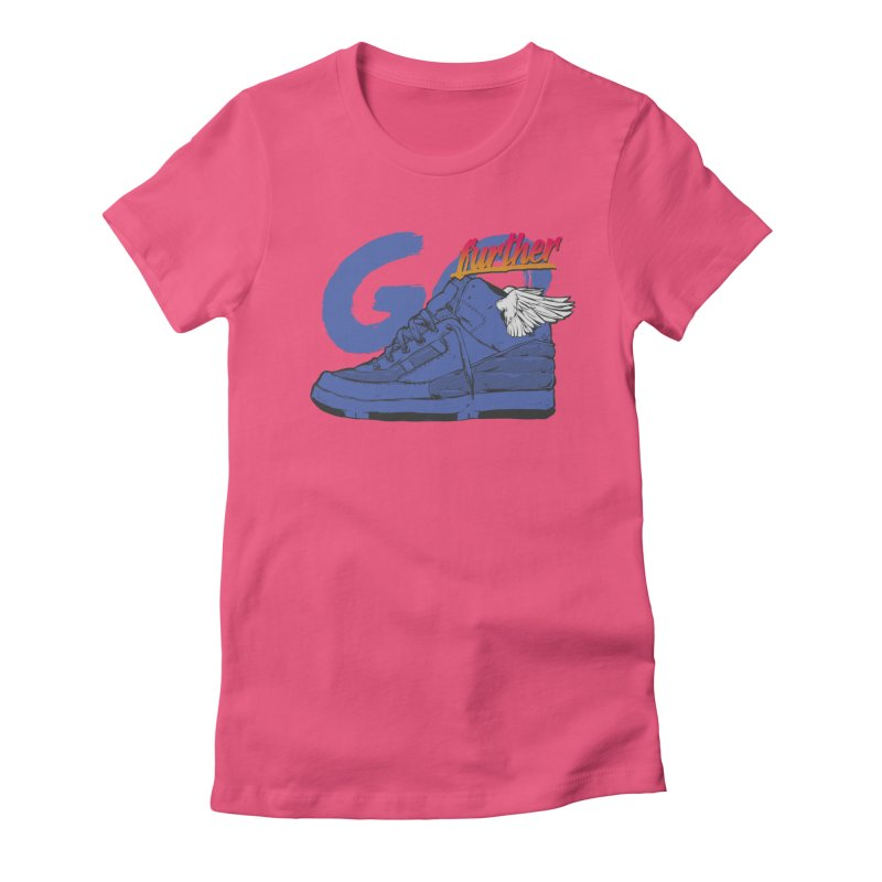 Sneaker Women's Fitted T-Shirt by hafaell's Artist Shop