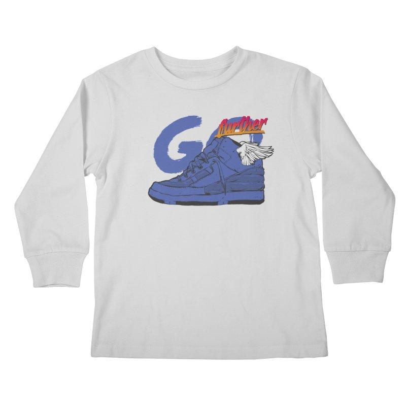 Sneaker Kids Longsleeve T-Shirt by hafaell's Artist Shop