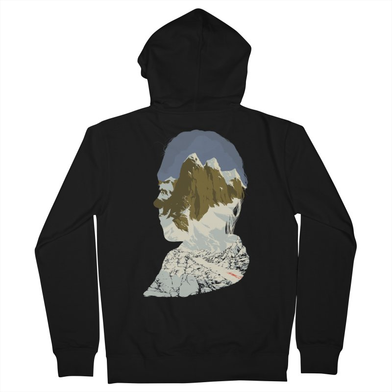 Live and Let Die Men's French Terry Zip-Up Hoody by hafaell's Artist Shop