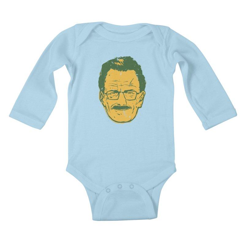 Mr. White Kids Baby Longsleeve Bodysuit by hafaell's Artist Shop