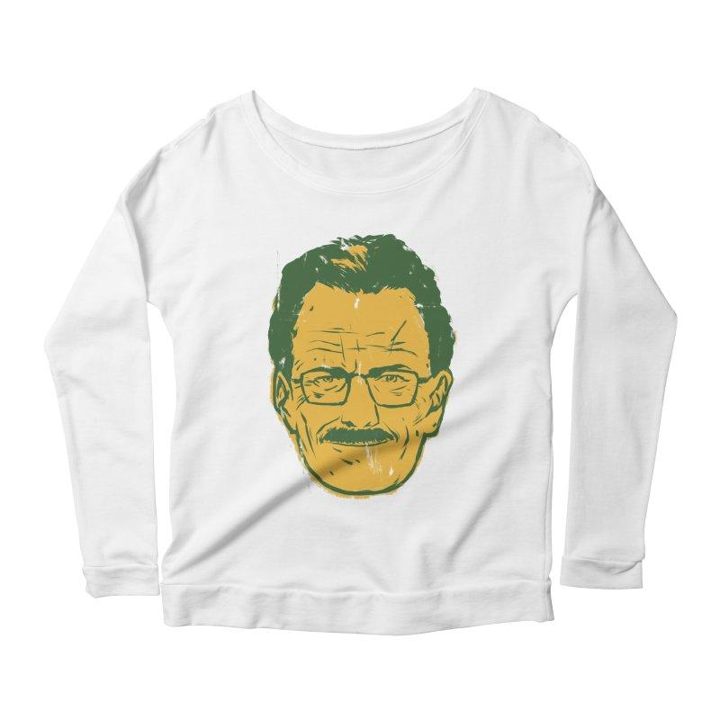 Mr. White Women's Scoop Neck Longsleeve T-Shirt by hafaell's Artist Shop