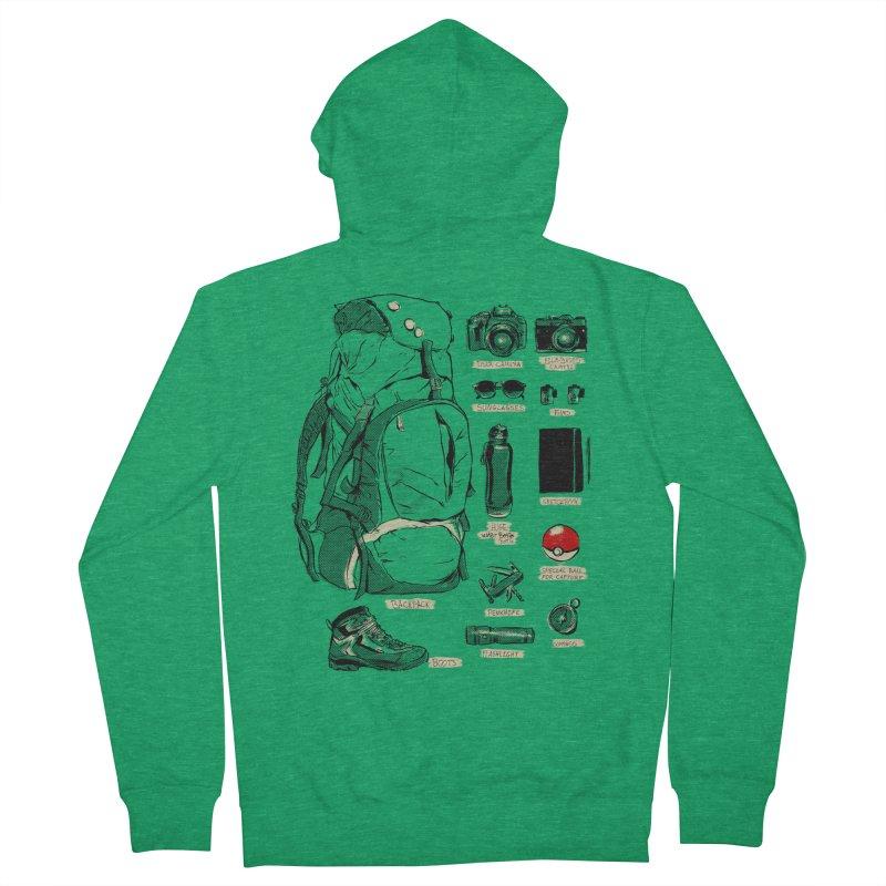 The Explorer Kit Men's Zip-Up Hoody by hafaell's Artist Shop