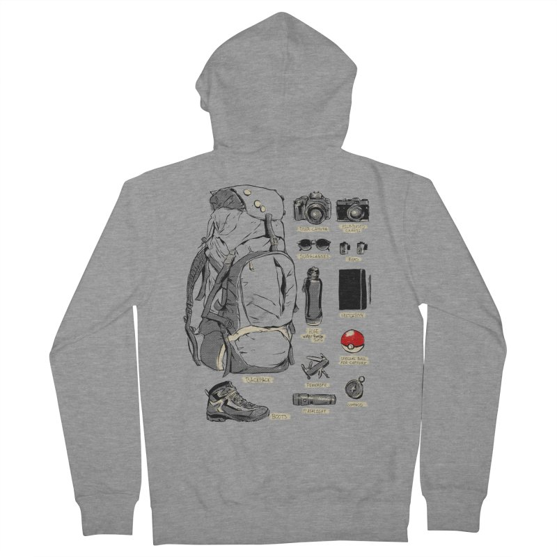 The Explorer Kit Men's Zip-Up Hoody by hafaell's Artist Shop