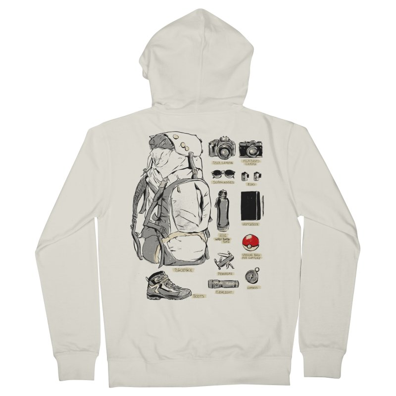 The Explorer Kit Men's French Terry Zip-Up Hoody by hafaell's Artist Shop