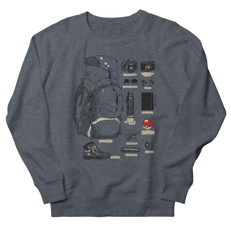 The Explorer Kit Men's French Terry Sweatshirt by hafaell's Artist Shop