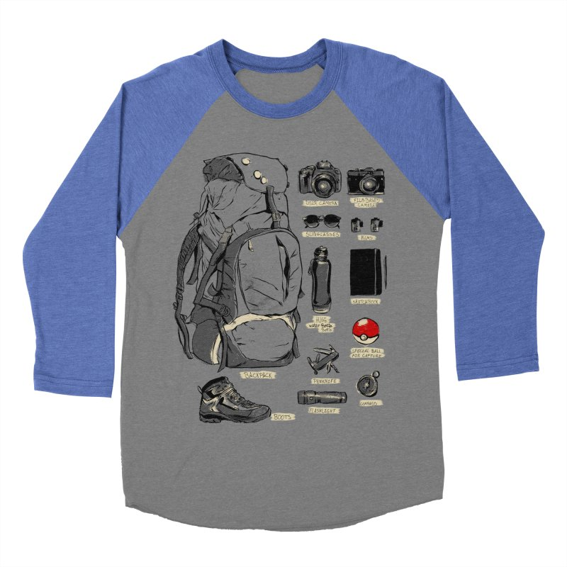 The Explorer Kit Women's Baseball Triblend T-Shirt by hafaell's Artist Shop