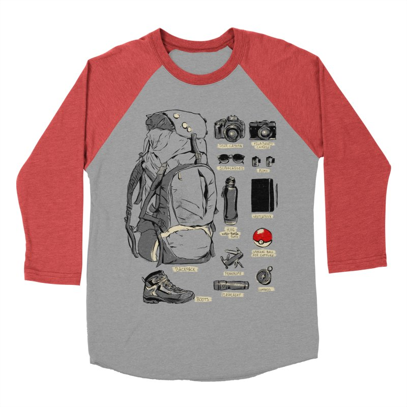 The Explorer Kit Men's Baseball Triblend T-Shirt by hafaell's Artist Shop
