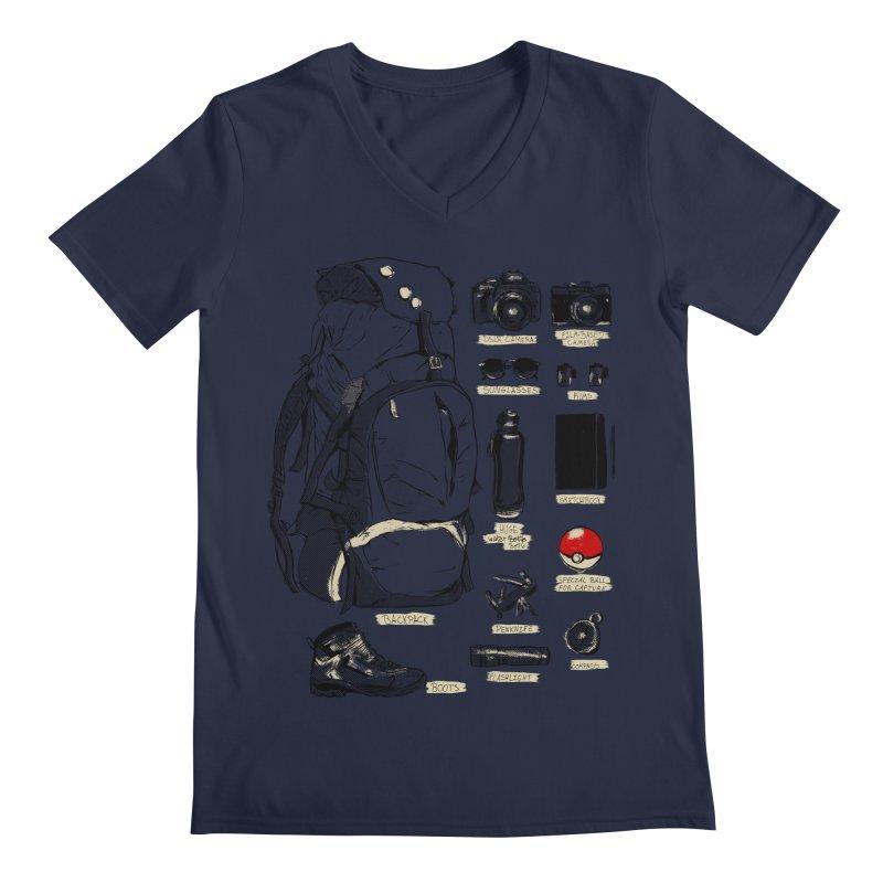 The Explorer Kit Men's Regular V-Neck by hafaell's Artist Shop