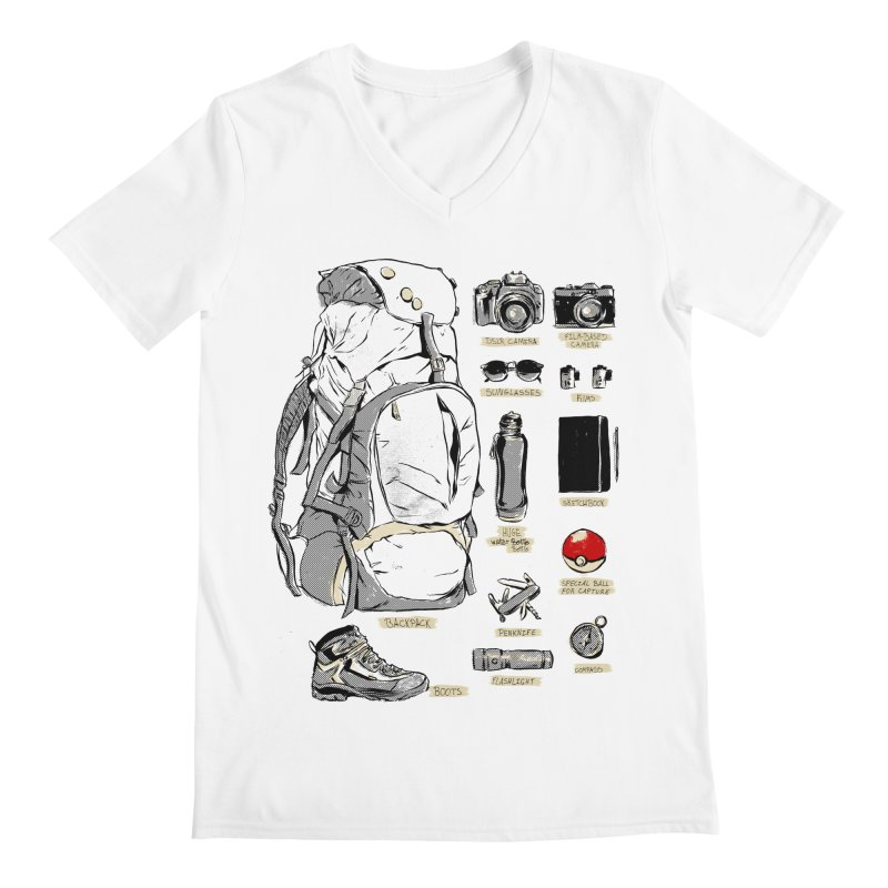 The Explorer Kit Men's Regular V-Neck by hafaell's Artist Shop