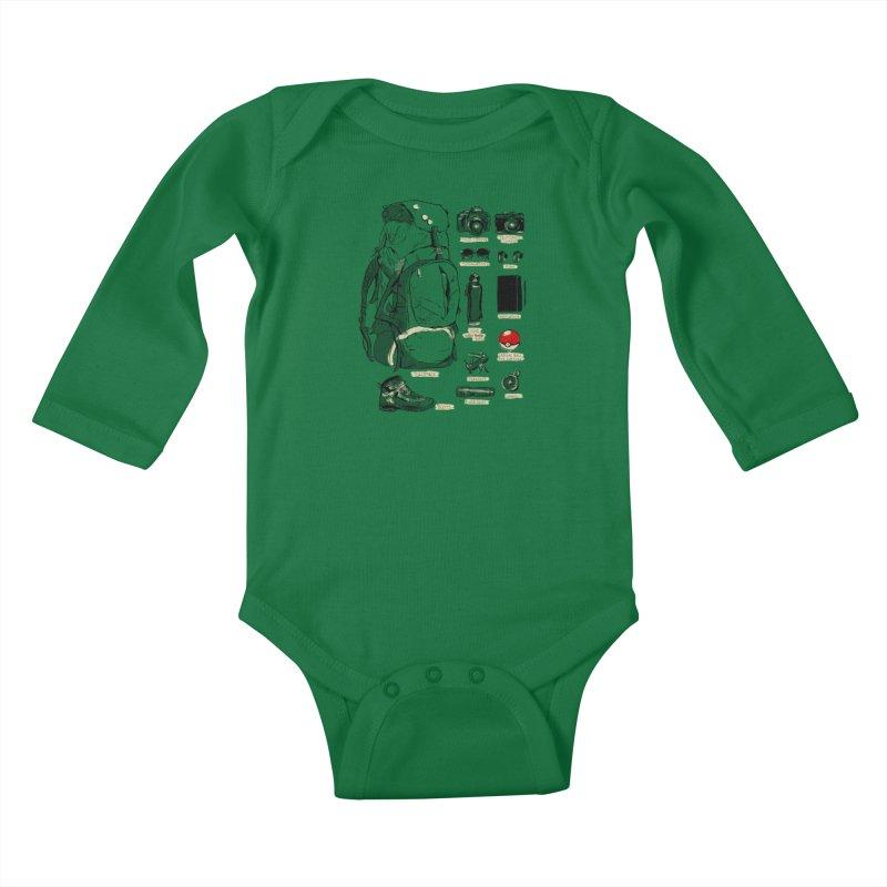 The Explorer Kit Kids Baby Longsleeve Bodysuit by hafaell's Artist Shop