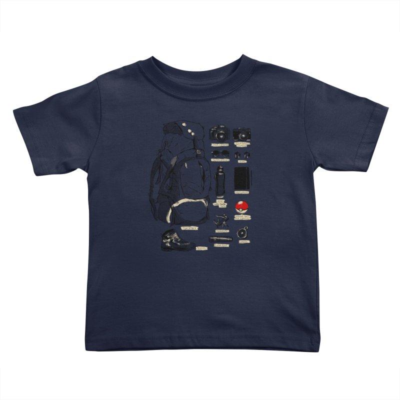 The Explorer Kit Kids Toddler T-Shirt by hafaell's Artist Shop