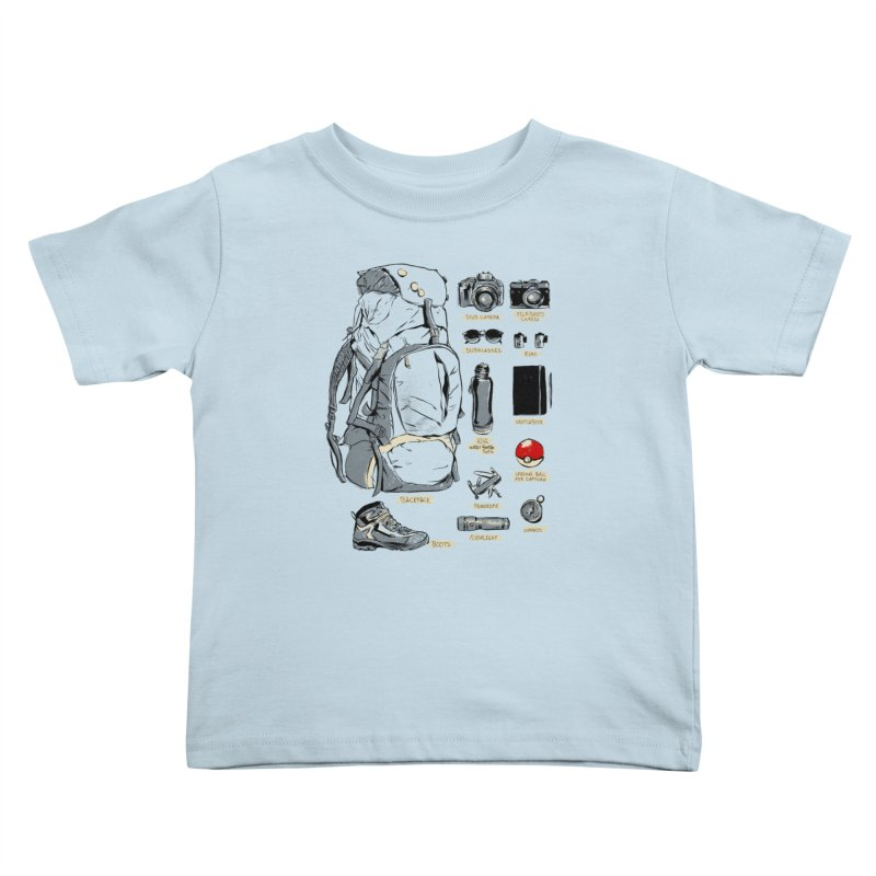 The Explorer Kit Kids Toddler T-Shirt by hafaell's Artist Shop