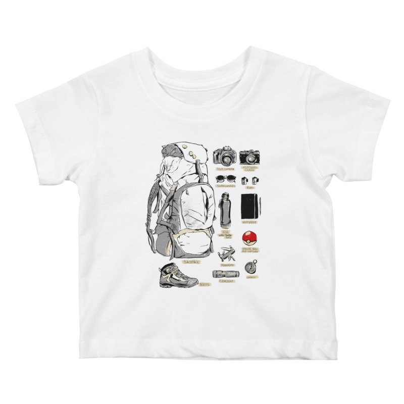 The Explorer Kit Kids Baby T-Shirt by hafaell's Artist Shop