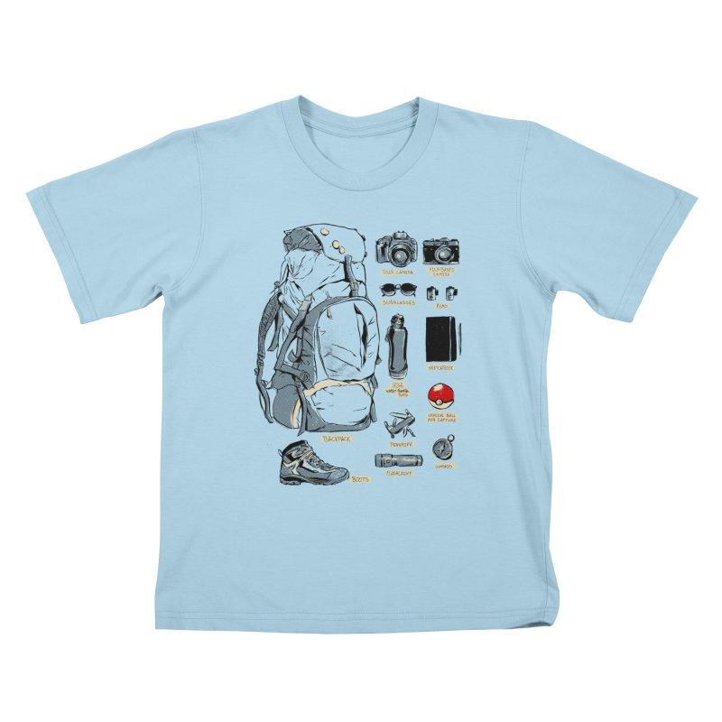 The Explorer Kit Kids T-Shirt by hafaell's Artist Shop