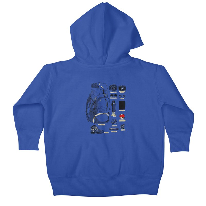 The Explorer Kit Kids Baby Zip-Up Hoody by hafaell's Artist Shop