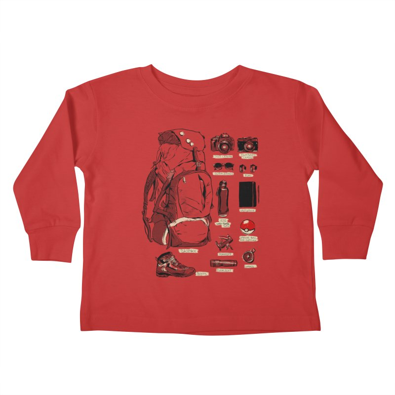 The Explorer Kit Kids Toddler Longsleeve T-Shirt by hafaell's Artist Shop