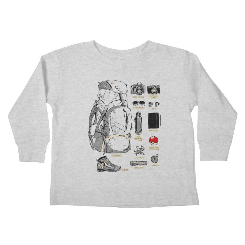 The Explorer Kit Kids Toddler Longsleeve T-Shirt by hafaell's Artist Shop