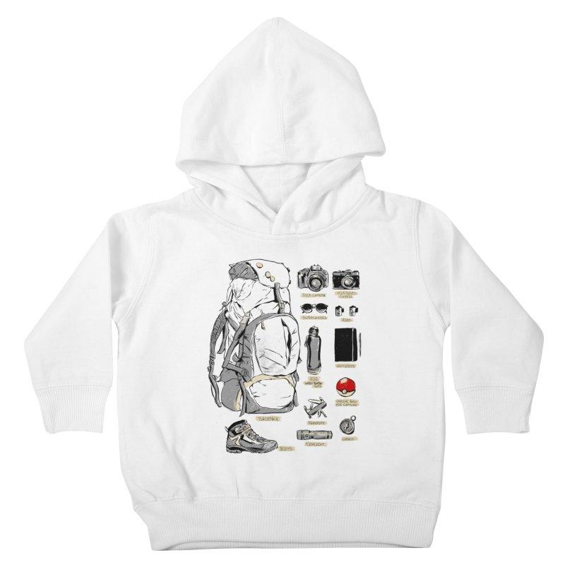 The Explorer Kit Kids Toddler Pullover Hoody by hafaell's Artist Shop