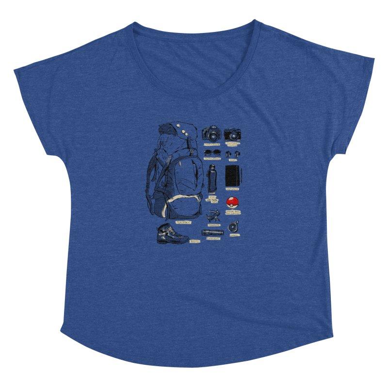 The Explorer Kit Women's Dolman Scoop Neck by hafaell's Artist Shop
