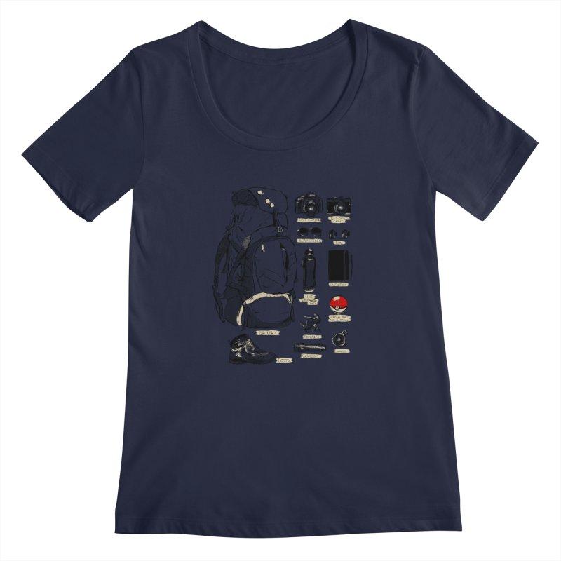 The Explorer Kit Women's Scoopneck by hafaell's Artist Shop