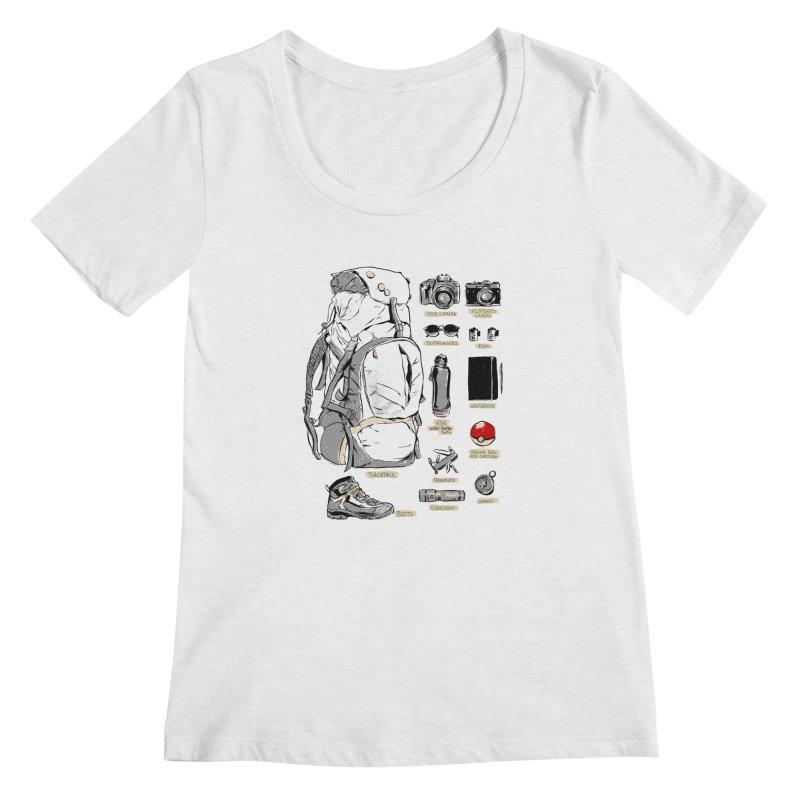 The Explorer Kit Women's Regular Scoop Neck by hafaell's Artist Shop