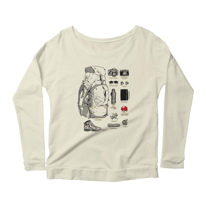 The Explorer Kit Women's Longsleeve Scoopneck  by hafaell's Artist Shop
