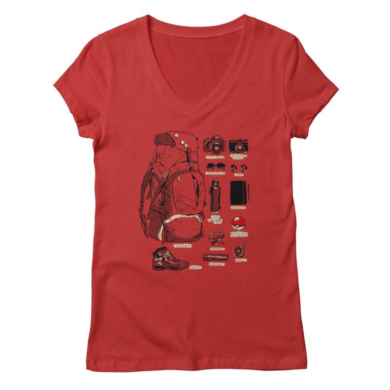 The Explorer Kit Women's Regular V-Neck by hafaell's Artist Shop