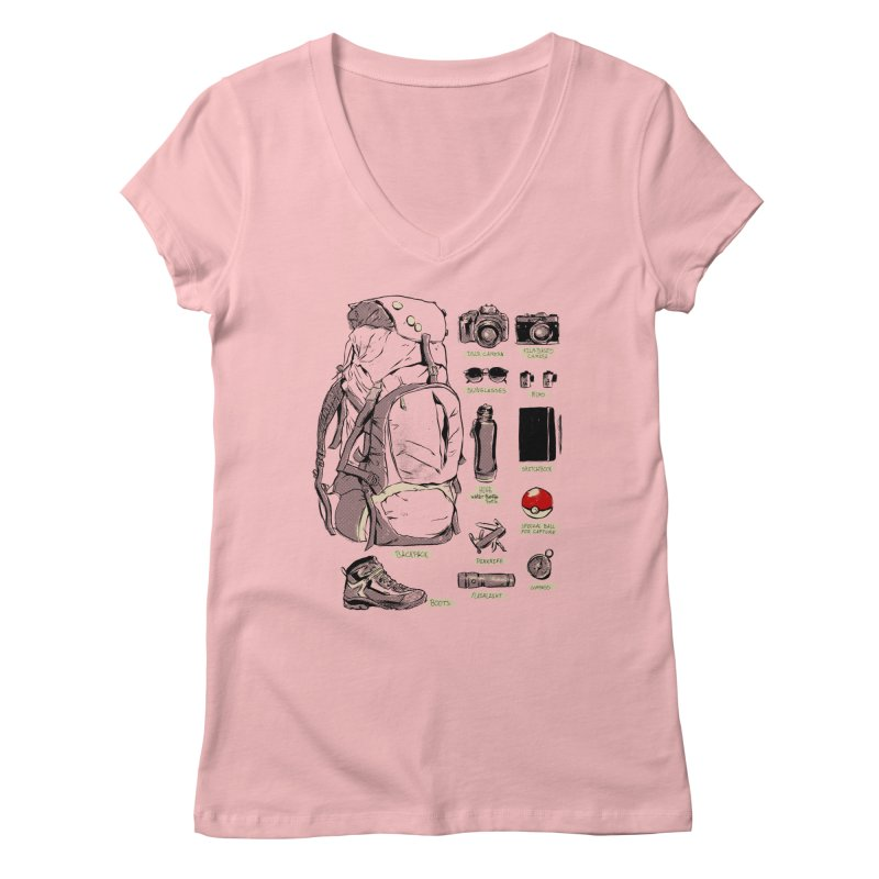 The Explorer Kit Women's V-Neck by hafaell's Artist Shop