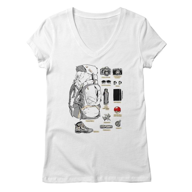 The Explorer Kit Women's V-Neck by hafaell's Artist Shop