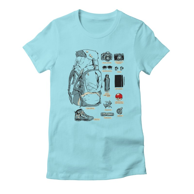The Explorer Kit Women's Fitted T-Shirt by hafaell's Artist Shop