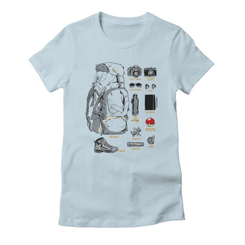 The Explorer Kit Women's Fitted T-Shirt by hafaell's Artist Shop