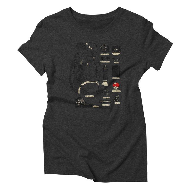 The Explorer Kit Women's Triblend T-shirt by hafaell's Artist Shop