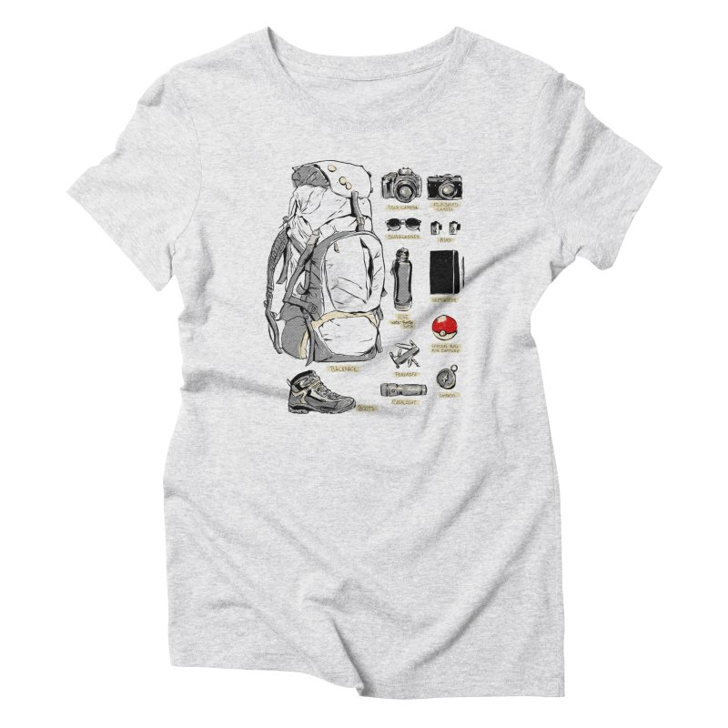 The Explorer Kit Women's Triblend T-Shirt by hafaell's Artist Shop
