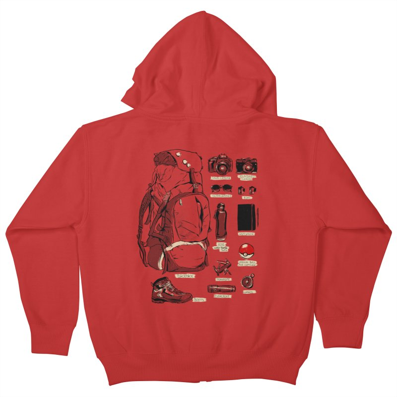 The Explorer Kit Kids Zip-Up Hoody by hafaell's Artist Shop