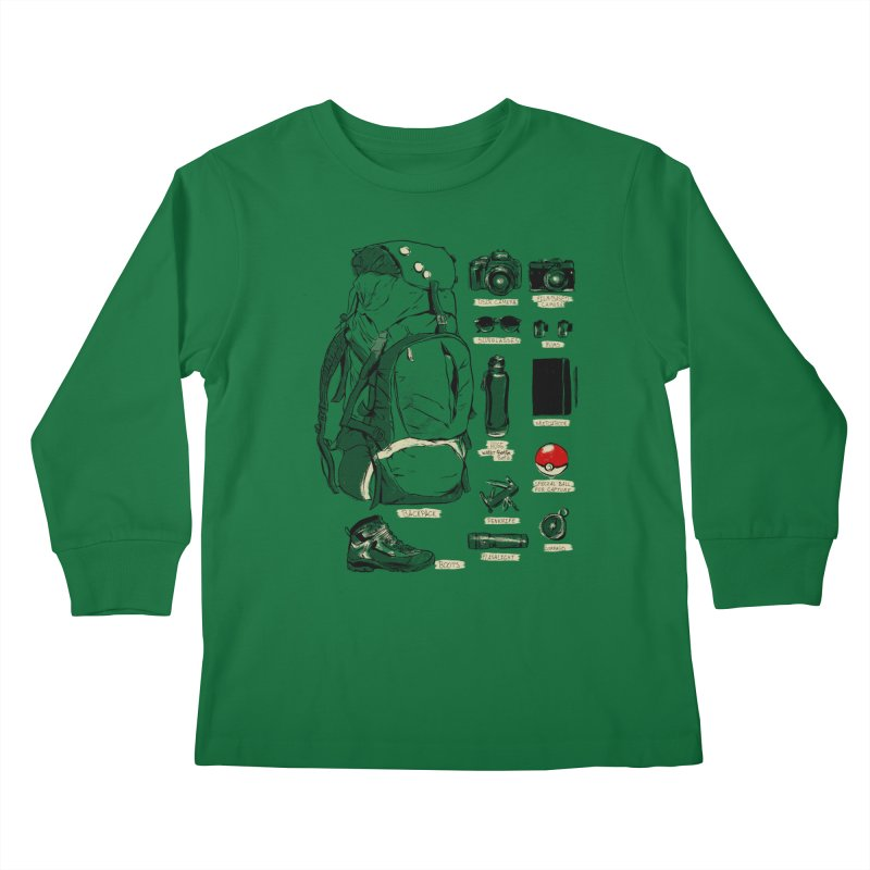 The Explorer Kit Kids Longsleeve T-Shirt by hafaell's Artist Shop
