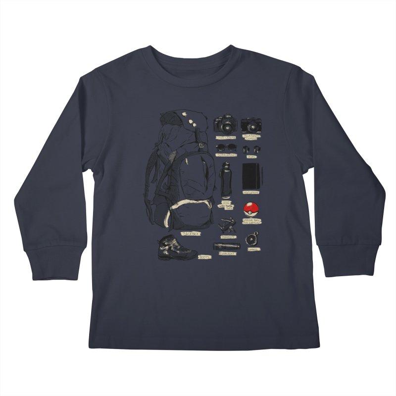The Explorer Kit Kids Longsleeve T-Shirt by hafaell's Artist Shop