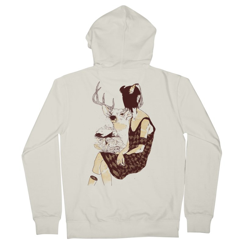 Fragmented Beauty Women's French Terry Zip-Up Hoody by hafaell's Artist Shop