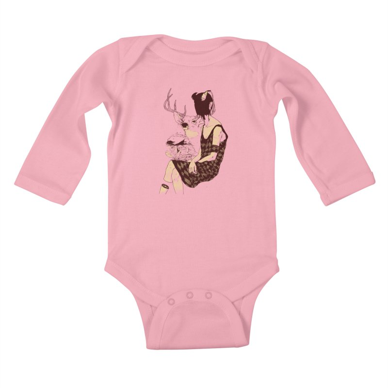Fragmented Beauty Kids Baby Longsleeve Bodysuit by hafaell's Artist Shop