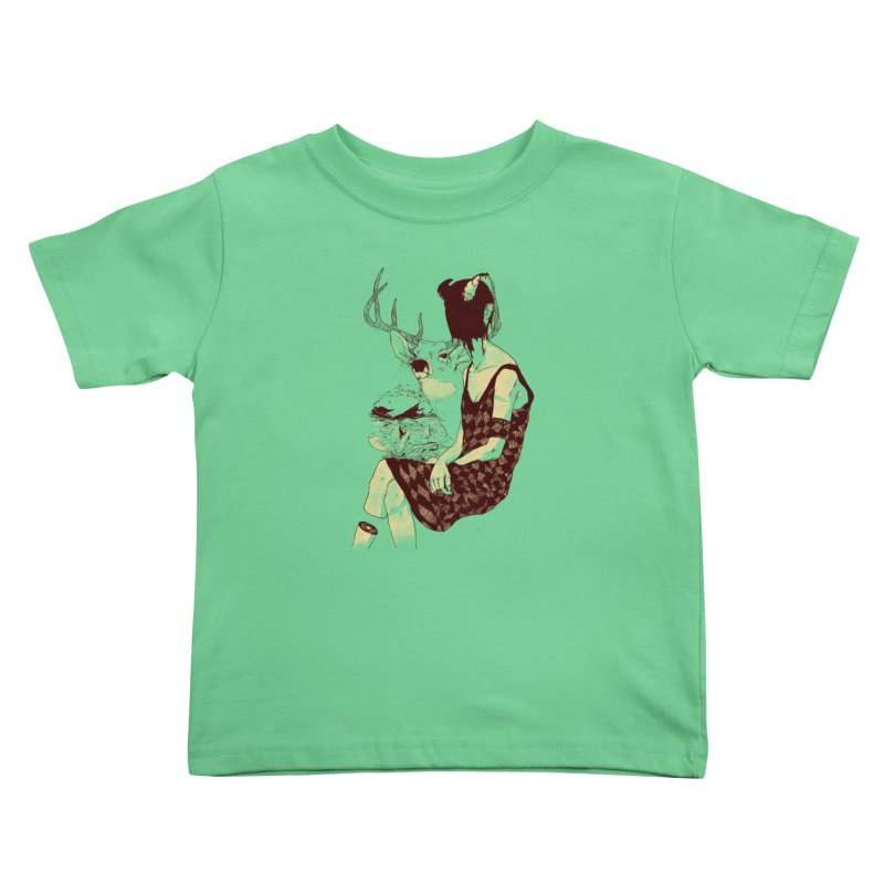 Fragmented Beauty Kids Toddler T-Shirt by hafaell's Artist Shop