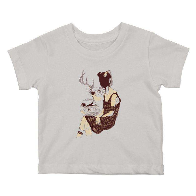 Fragmented Beauty Kids Baby T-Shirt by hafaell's Artist Shop