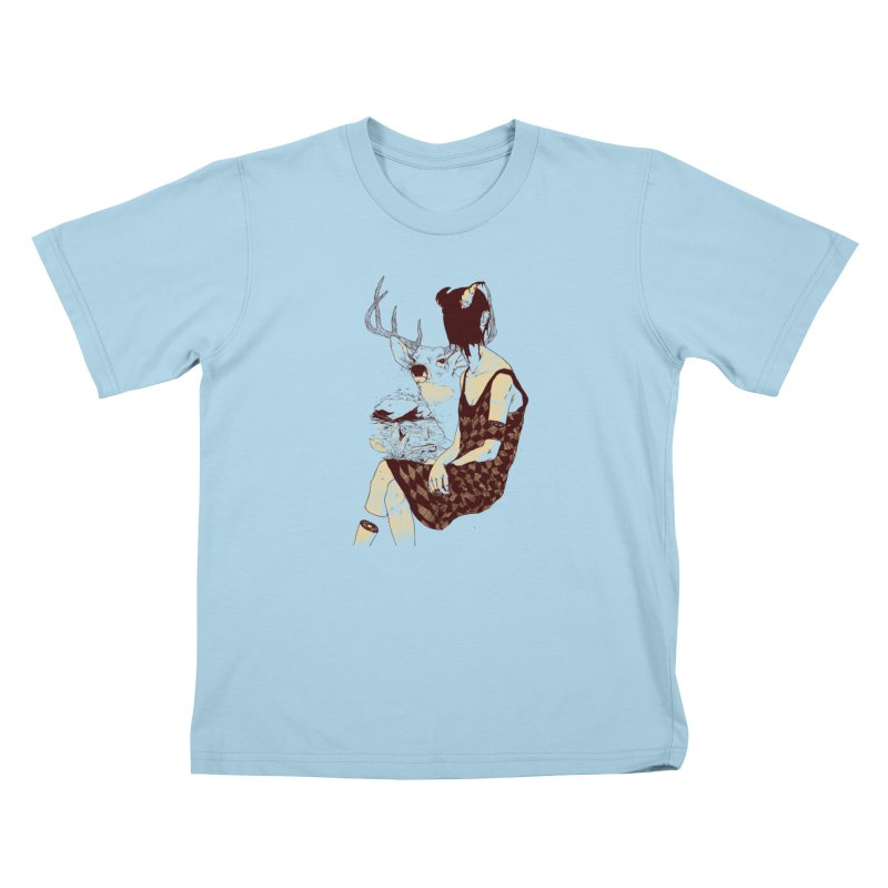 Fragmented Beauty Kids T-Shirt by hafaell's Artist Shop