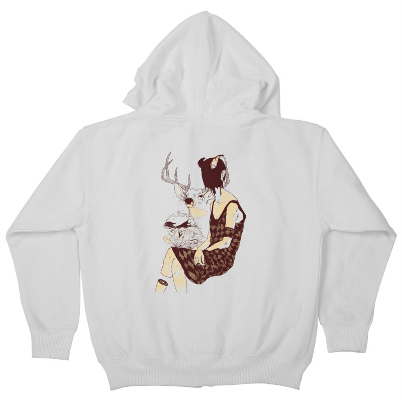 Fragmented Beauty Kids Zip-Up Hoody by hafaell's Artist Shop