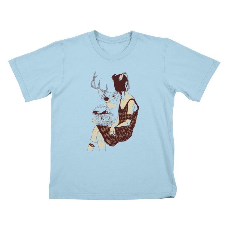 Fragmented Beauty Kids T-Shirt by hafaell's Artist Shop