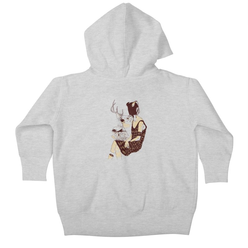 Fragmented Beauty Kids Baby Zip-Up Hoody by hafaell's Artist Shop