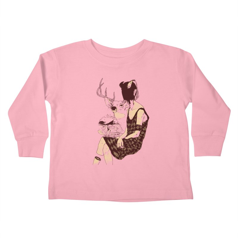 Fragmented Beauty Kids Toddler Longsleeve T-Shirt by hafaell's Artist Shop